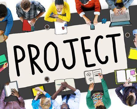 Projekt-Plan-Strategie-Venture-Unternehmen Konzept