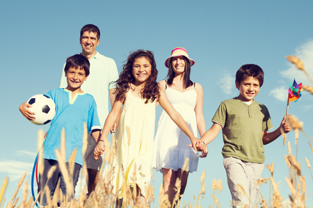 people happy: Family Happiness Holiday Vacation Activity Concept