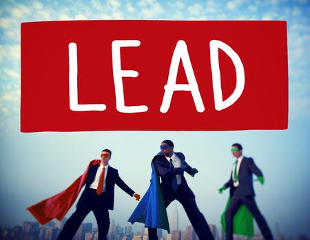 liderazgo: Plomo Concepto Liderazgo director jefe