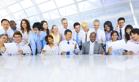 Grupo de hombres de negocios reunidos equipo del concepto Foto de archivo