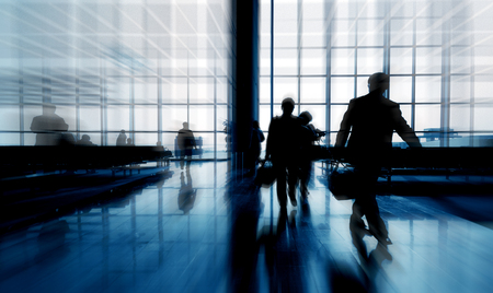 Business Travelers Passengers Airport Commuter Concept Stock Photo