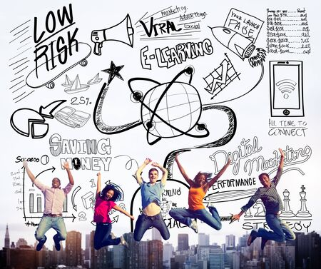 arms outstretched: E-learning Education Sketch Drawing Doodle Concept