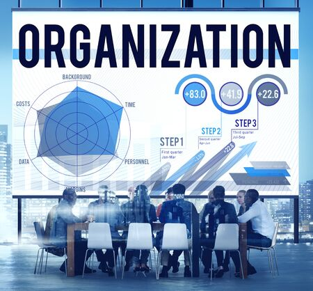 management concept: Organization Management Collaboration Team Structure Concept