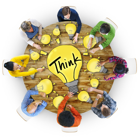 Aerial View People Ideas Innovation Motivation Think Concepts 版權商用圖片