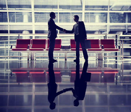 Businessmen Talking Business Airport Deal Concept Zdjęcie Seryjne - 46139916