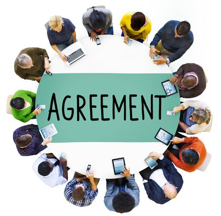 team work: Agreement Collaboration Connection Cooperation Deal Concept