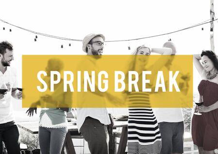 adolescencia: Spring Break Beach Party Teenager Adolescence Leisure Concept