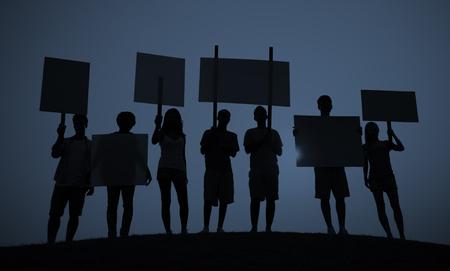 conflictos sociales: Protesta Concepto Unidad Grupo Multitud Personas Comunicación Foto de archivo