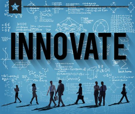 innovate: Innovate Invention Innovation Development Vision Concept Stock Photo