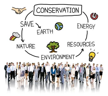 保全環境地球生態学の概念 写真素材