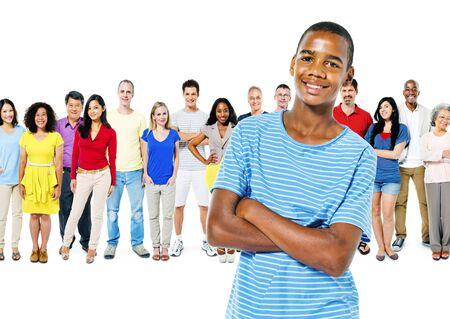 team leadership: Diversity People Community Crowed Friendship Concept Stock Photo