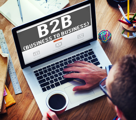 b2b: Business To Business Marketing Company Industry Concept