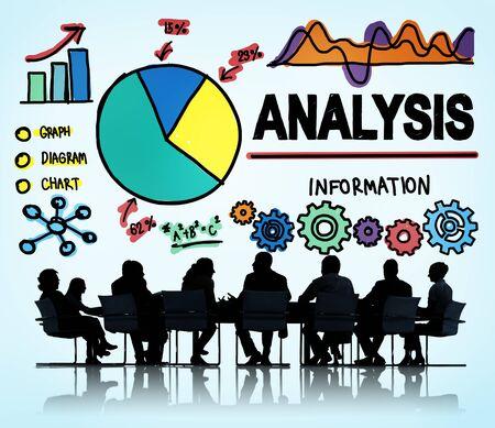 analyze: Analysis Analytics Analyze Data Information Statistics Concept Stock Photo