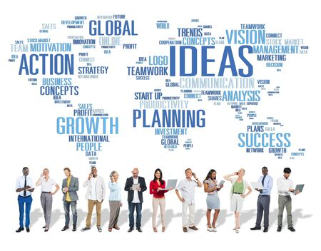 world ideas: Global People Digital Device Creativity Ideas Concept
