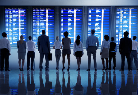 departure board: Business People Airport Terminal Travel Departure Concept
