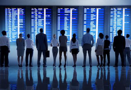 Zaken Mensen Airport Terminal Travel Vertrek Concept
