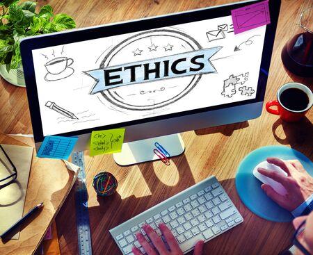 ideals: Ethics Integrity Fairness Ideals Behavior Values Concept