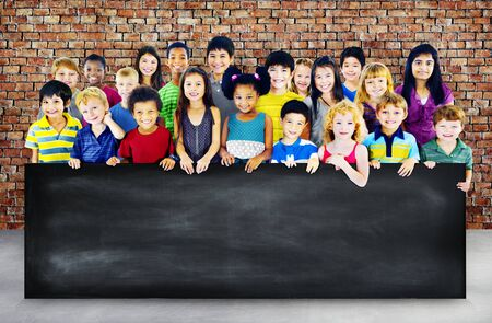 elementary age: Kids Children Elementary Age Diversity Concept
