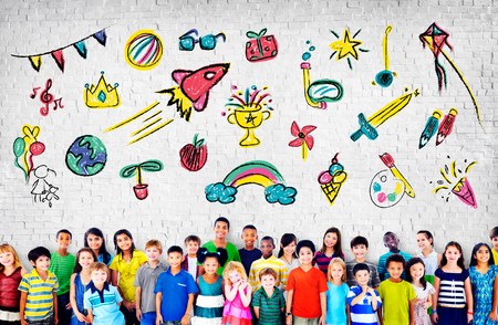 childhood: Kids Childhood Leisure Activity Education Concept Stock Photo