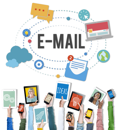 Digital devices with email concept Stockfoto - 108919825
