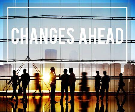 Veranderingen Ahead Ambitie Aspiration Verbetering Concept