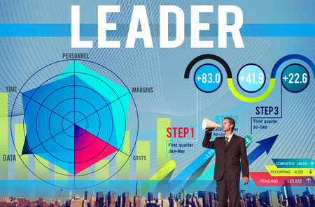 Businessman with leadership concept