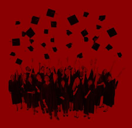 university life: Graduation Student Life University Collage Concept
