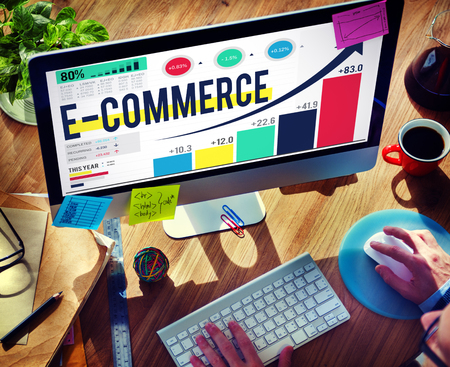 estadisticas: El comercio electr�nico de Internet Marketing Global de Compras Concepto