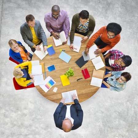 team: Diversity Design Team Leadership Studying Concept Stock Photo