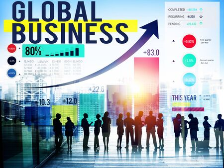 stock exchange: Global Business International Networking Cooperation Concept
