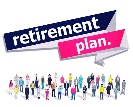 pension: Retirement Plan Retirement Planning Pension Concept Stock Photo