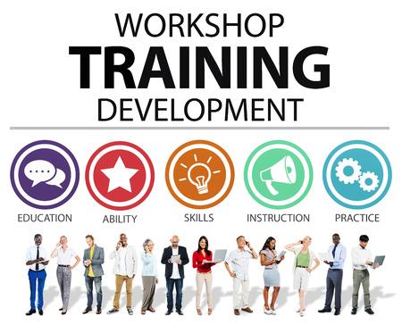 開発命令の概念を教える訓練ワーク ショップ 写真素材