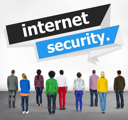 internet security: Internet Security Protection Phishing Prevent Protect Concept Stock Photo