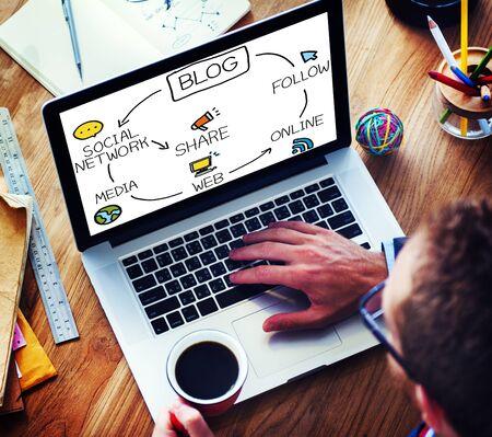 Blog Blogging Comunicación Conexión de datos Concepto Social