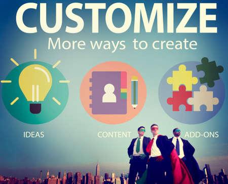 personal identity: Personalizar Ideas Identidad Individualidad Innovaci�n Personalizar Concept