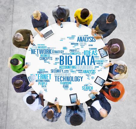 Big Data Storage Informatie World Map Concept