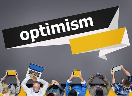 Optimism Attitude Hopeful Positive Thinking Concept