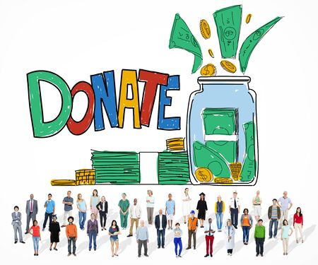 graduate asian: Donate Give Help Support Assistance Concept