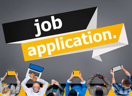 place of employment: Job Application Applying Recruitment Occupation Career Concept