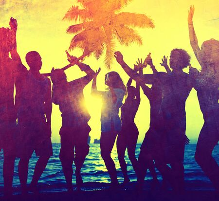 african bikini: Young Adult Party Alcohol Fun Freedom Beach Summer Concept