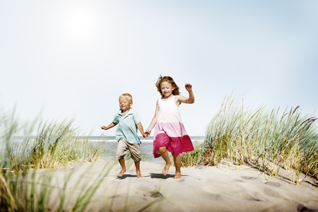 sibling: Sibling Happiness Summer Beach Vacations Concept