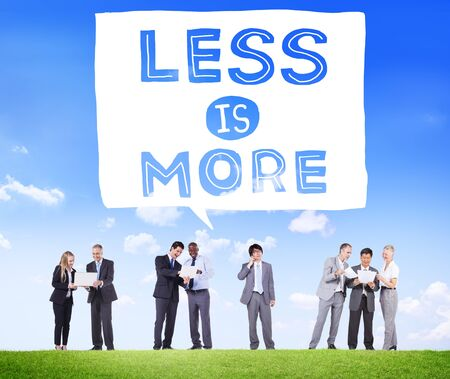 complexity: Less is More Minimal Simplicity Efficient Complexity Concept Stock Photo