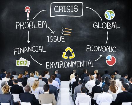 global economic crisis: Crisis Economic Environmental Finance Global Concept