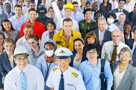 Divers Gens d'affaires réussie Concept de carrière Banque d'images - 46123498