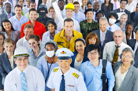 career man: Diverse Business People Successful Career Concept