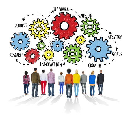innovation growth: Team Teamwork Goals Strategy Vision Business Support Concept