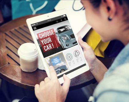 Car Technology Transportation Motor Engine Concept Stockfoto