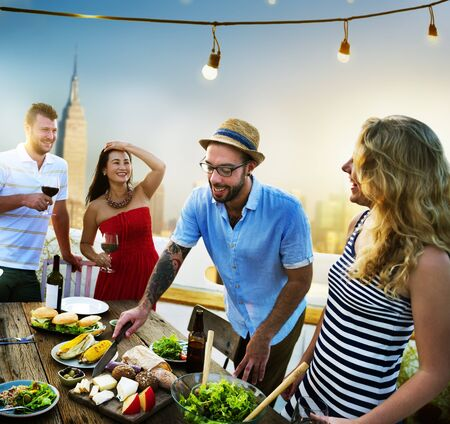 candlelit: Diverse Summer Party RoofTop Fun Concept