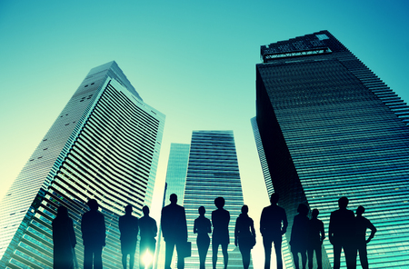corporate building: Business People Vision Strategy Aspiration Concept Stock Photo