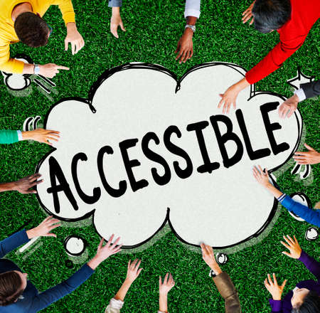 attainable: Accessible Approachable Access Enter Available Concept